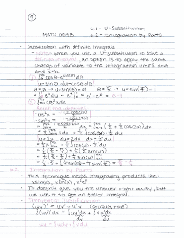math-009b-lecture-9-lecture-9-math-009b-6-1-u-substitution-substitution-with-definite-integrals-6-2-integration-by-parts-uliatev