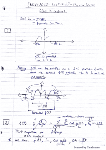 fourier series lecture notes pdf
