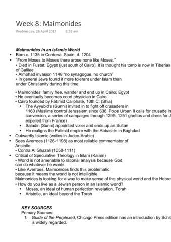 HUMA1010 Lecture Notes - Lecture 8: Fustat, Ayyubid Dynasty, Apophatic  Theology