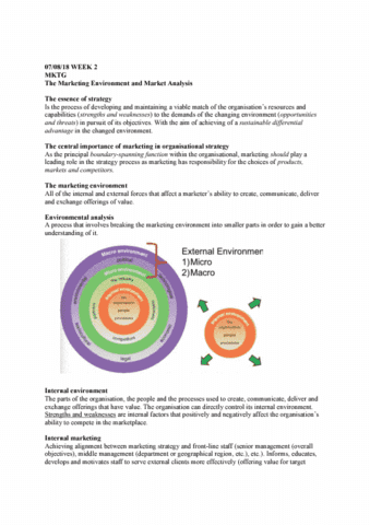 MKTG101 Lecture Notes - Lecture 2: Pest Analysis, Internal Communications,  Habitat