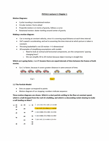 phya11h3 lecture notes - fall 2018, lecture 2 - projectile motion, ferris  wheel, circular motion