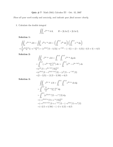 MATH 221 Drexel Sample Exam2 Solutions - OneClass
