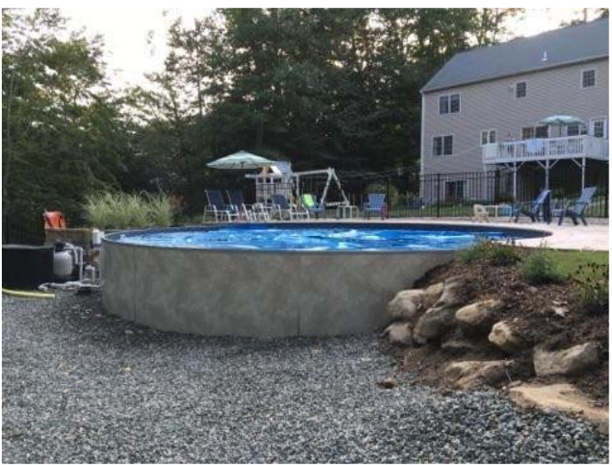 solid struction above ground pool MA