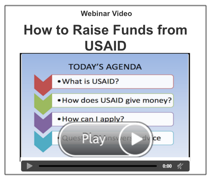 How to Raise Funds from USAID