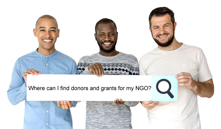Where can I find donors and grants for my NGO?