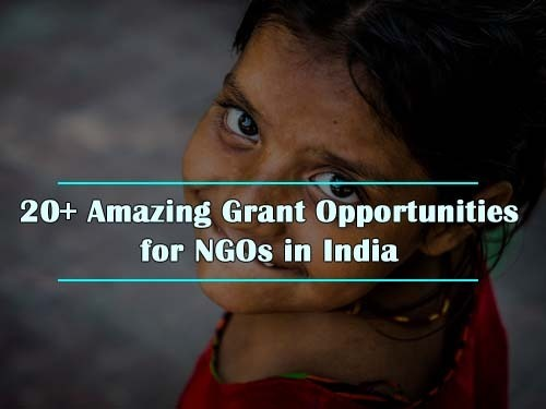 20+ Amazing Grant Opportunities for NGOs in India