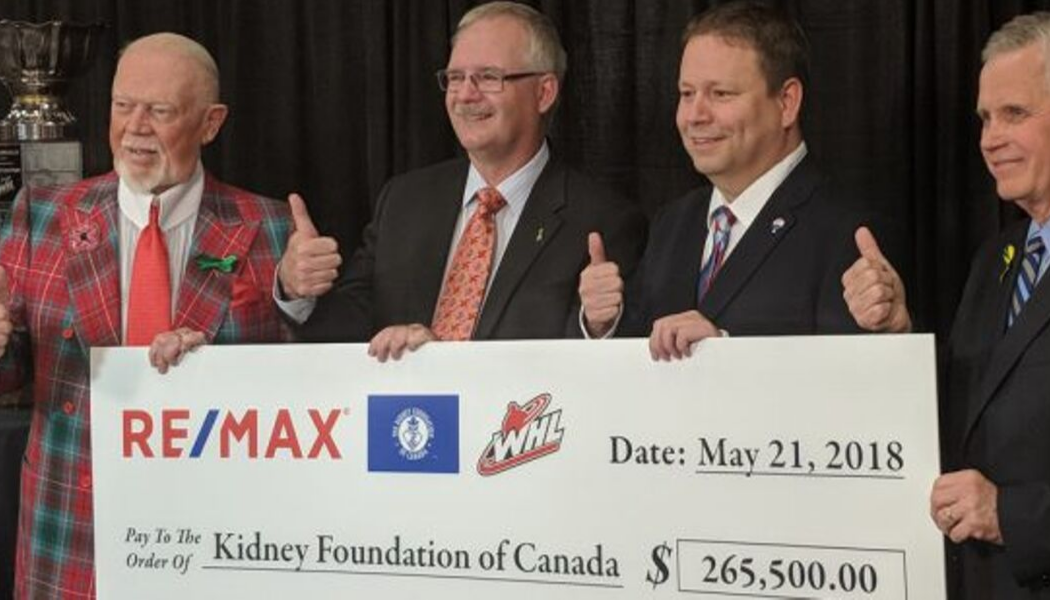 WHL Suits Up with Don Cherry to Promote Organ Donation, Raises over $265,500
