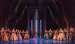 Caissie Levy (Elsa) and the Company of FROZEN on Broadway