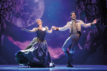 Patti Murin (Anna) and John Riddle (Hans) in FROZEN on Broadway