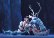 Jelani Alladin (Kristoff) and Andrew Pirozzi (Sven) in FROZEN on Broadway