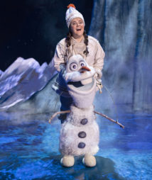 Ryann Redmond as Olaf in FROZEN on Broadway