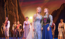 Caissie Levy (Elsa), Patti Murin (Anna) and the Company of FROZEN on Broadway
