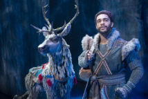 Adam Jepsen (Sven) and Noah J. Ricketts (Kristoff) in FROZEN on Broadway