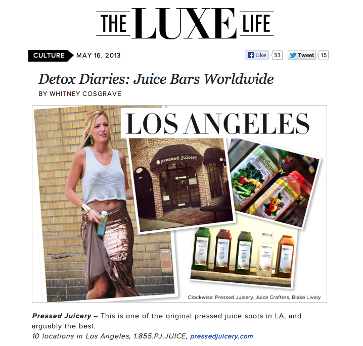 The Luxe Life: Detox Diaries: Juice Bars Worldw
