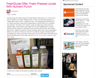 Pop Sugar: FreshGuide Offer: Fresh Pressed