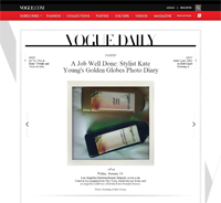 Vogue Daily: A Job Well Done: Stylist Kate Yo