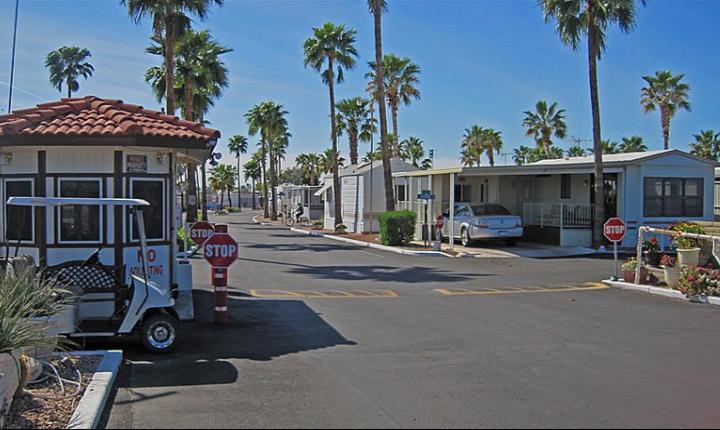 Mobile home park entrance