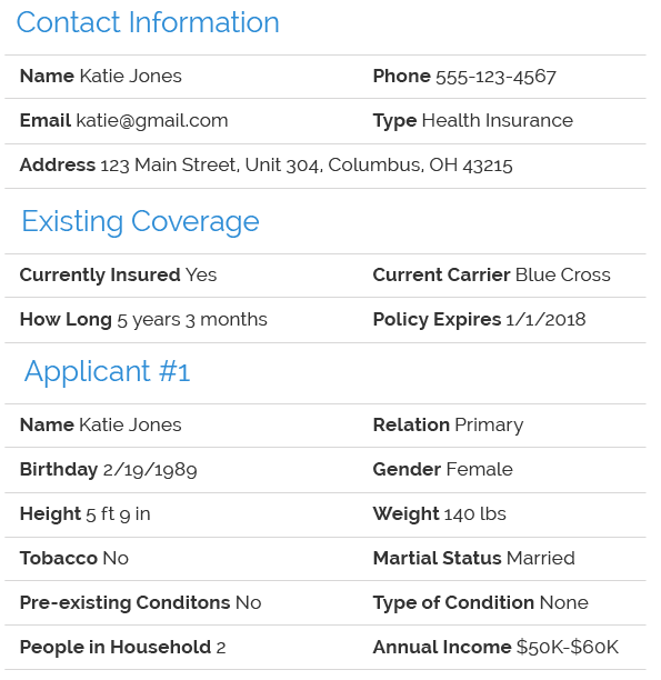 Health Insurance Lead