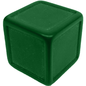 Ad for D6, Indented, Blank, Green