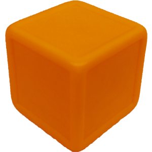 D6, Indented, Blank, Orange