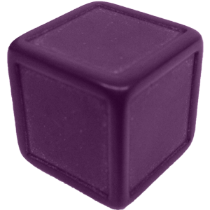 D6, Indented, Blank, Purple