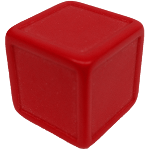 D6, Indented, Blank, Red