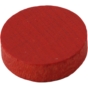 Disc, 14mm x 4mm, Red