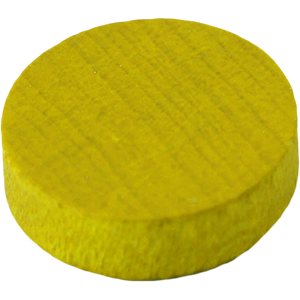 Disc, 14mm x 4mm, Yellow