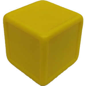 D6, Indented, Blank, Yellow