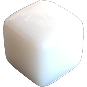Ice Cube, 8mm, Opaque, White