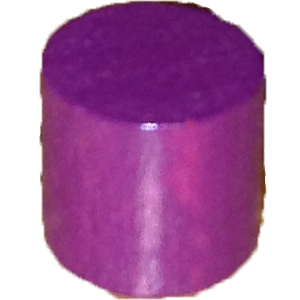 Cylinder, 10mm x 10mm, Purple
