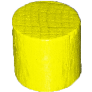 Cylinder, 10mm x 10mm, Yellow