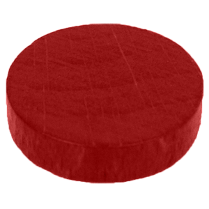 Disc, 16mm x 4mm, Red