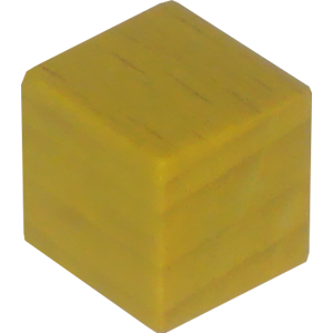 Cube, 10mm, Yellow