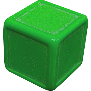 D6, Indented, Blank, Green