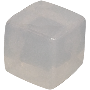 Ice Cube, 10mm, Transparent, White