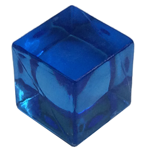 Ice Cube, 8mm, Transparent, Blue