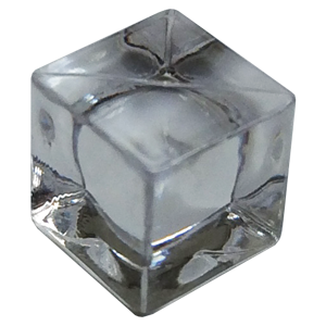 Ice Cube, 8mm, Transparent, Clear