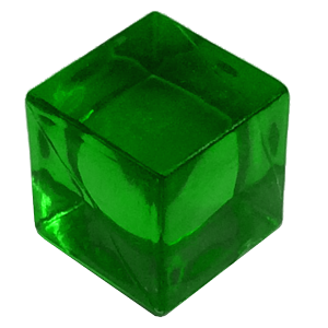 Ice Cube, 8mm, Transparent, Green