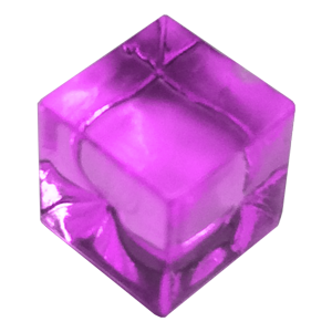 Ice Cube, 8mm, Transparent, Purple