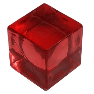 Ice Cube, 8mm, Transparent, Red