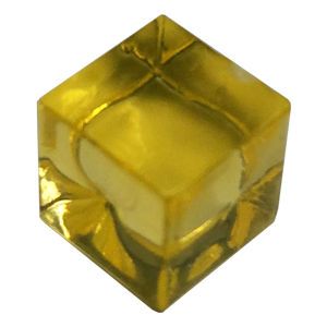 Ice Cube, 8mm, Yellow