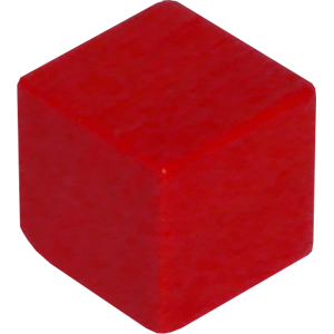Ad for Cube, 10mm, Red