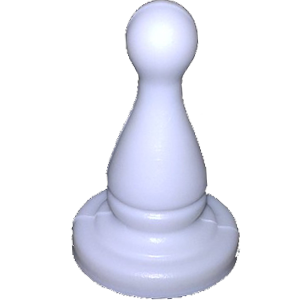 Bowling Pin, Small, White