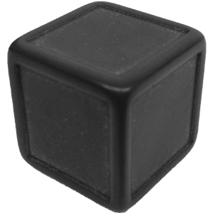 D6, Indented, Blank, Black