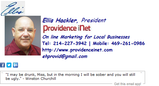 President Email Signature Template