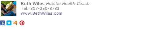 Holistic Health Coach Email Signature Template