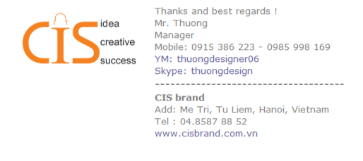 Creative Manager Email Signature Template