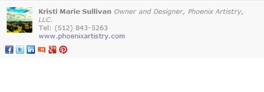 Designer Email Signature Template