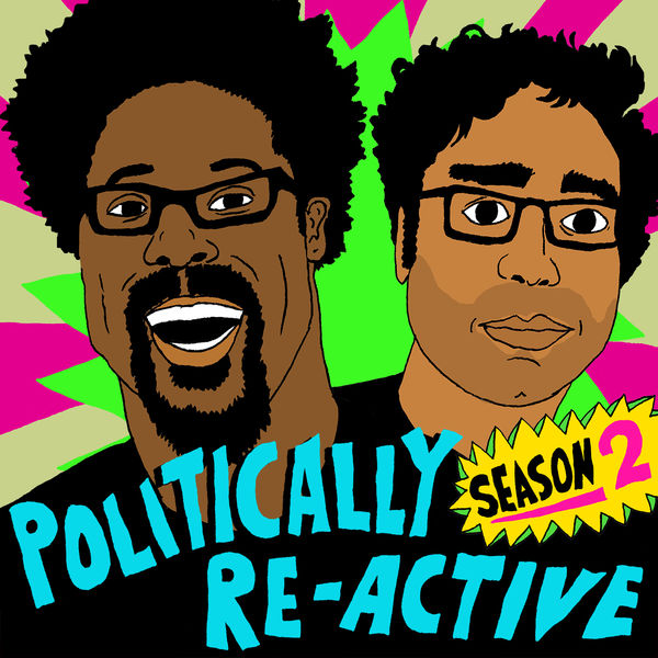 Logo of Politically Re-Active with W. Kamau Bell & Hari Kondabolu